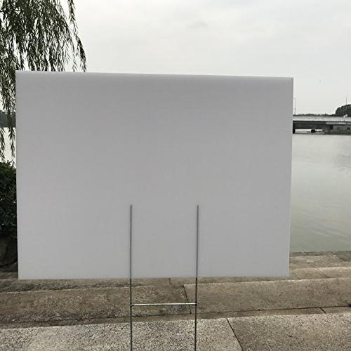 "24""x18"" White Blank Yard Corrugated Plastic Opening Business, Garage Rent, House Sale"