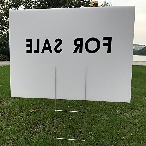 "MEJOR 12 24""x18"" Blank Yard Signs Corrugated Plastic Sheet with Opening Business, Garage House Sale"