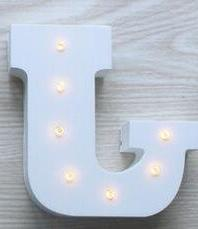 wooden alphabet lamp sign marquee