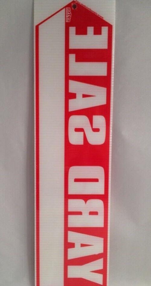 """YARD SIGN Sided BIG 18"""" X 4.75"""" Stakes"""