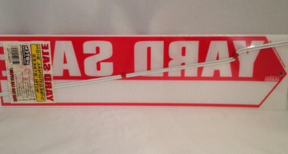 """YARD Sided RED 18"""" X Stakes"""