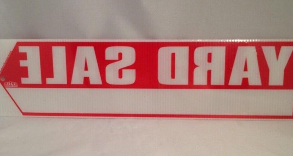 """YARD 2 Sided BIG RED ARROW 18"""" 4.75"""" 2 Stakes NEW"""