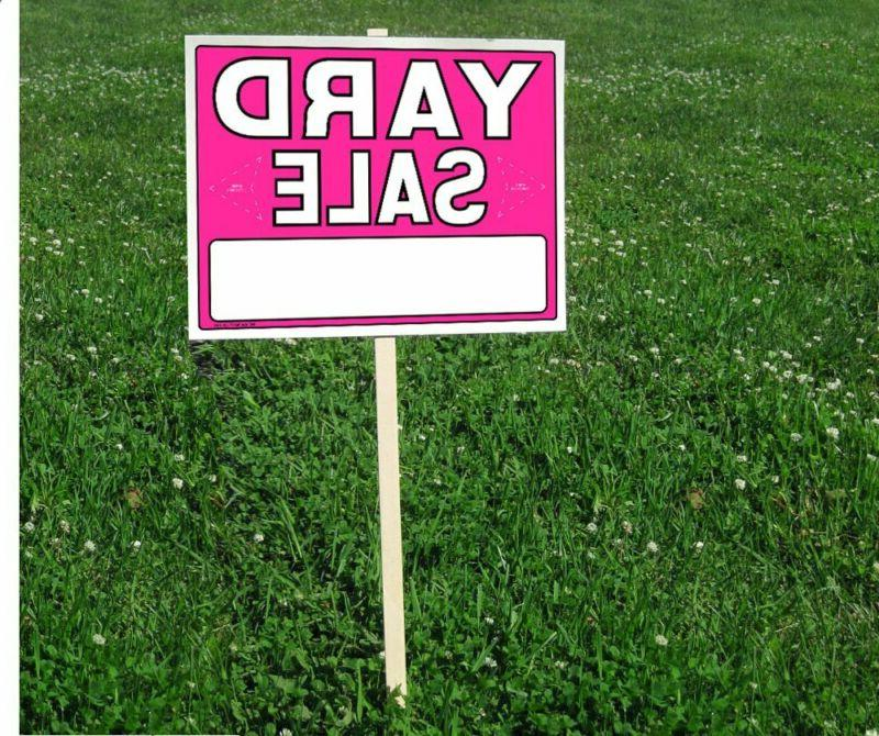 Yard Sale with Pricing Wood Sign