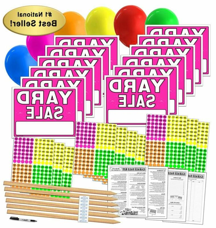 yard sale sign kit with pricing labels