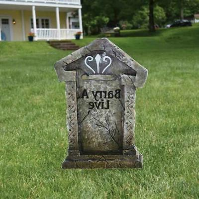 VictoryStore Yard Lawn Decorations  Fake Tombstones -
