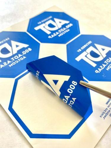 ADT Sign 4 Stickers