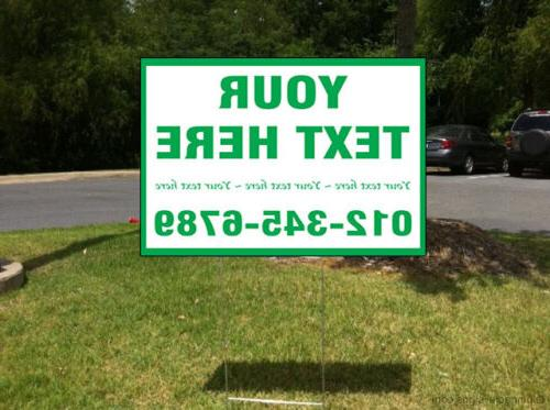 Your Text Corrugated Plastic Sign /Free