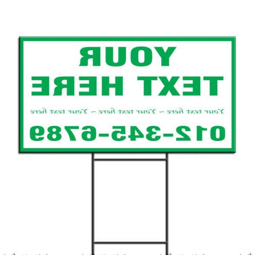 your text here custom corrugated plastic yard