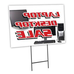 laptop desktop yard sign stake