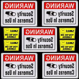 LARGE METAL HOME VIDEO SECURITY CAMERAS WARNING YARD SIGNS+W
