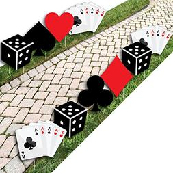 Las Vegas - Card Suits and Dice Lawn Decorations - Outdoor C