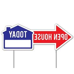 VictoryStore Outdoor Lawn Signs: Open House Directional Yard