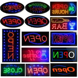 led open sign for business shop animated