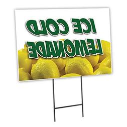 "LEMONADE 1 18""x24"" Yard Sign & Stake outdoor plastic coropla"