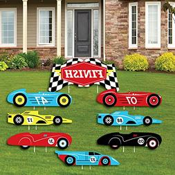 Big Dot of Happiness Let's Go Racing - Racecar - Yard Sign