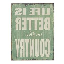 Barnyard Designs Life is Better in the Country Wood Plaque,