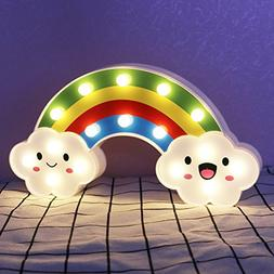 DELICORE Lighted Cute Rainbow Sign - Marquee Rainbow Night L