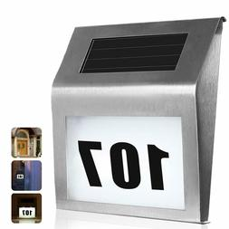 House Numbers Sign Solar Powered LED Address Number Light fo
