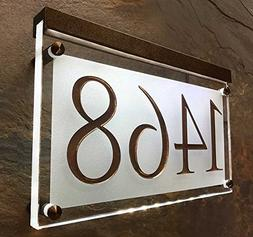 Lighted Crystal Address Sign! This address plaque is bright