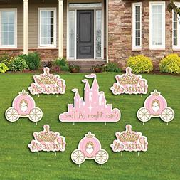 Big Dot of Happiness Little Princess Crown - Yard Sign & Out