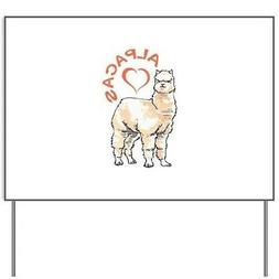 love alpacas yard sign 18 x 24