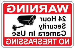 1 Pc Luxurious Unique Warning 24 Hour Security Camera In Use