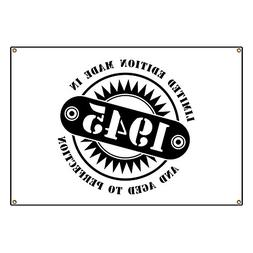 """CafePress LIMITED EDITION MADE IN 1945 - Vinyl Banner, 44""""x3"""