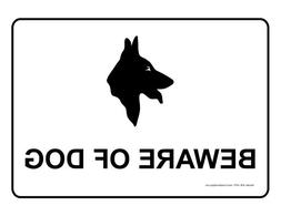 ComplianceSigns Magnet sign 14 x 10 in. with Beware of Dog m