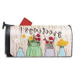 Juvale Magnetic Mailbox Cover - Greetings Mailbox Wrap with