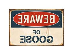 Teisyouhu Metal Sign Vintage Beware Of Goose Aluminum Wall S
