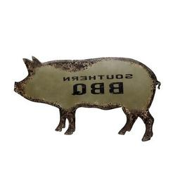 """Large 32"""" Metal Southern BBQ Pig Sign Outdoor Pit/Yard/Home/"""