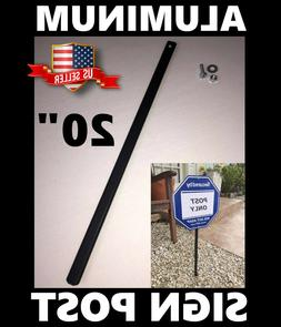 "METAL Yard Sign Mounting Post Stake 20"" Fits ADT Brinks Home"