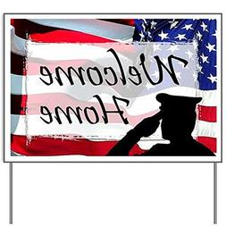 Military Welcome Home Yard SignYard Sign, Vinyl Lawn Sign, P