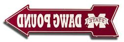 MISSISSIPPI STATE BULLDOGS DAWG POUND METAL ARROW SIGN  MAN