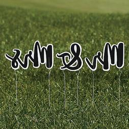 MR & MRS YARD SIGN SET 3PC - 3 pieces