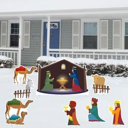 VictoryStore Yard Sign Outdoor Lawn Decorations: Nativity Sc
