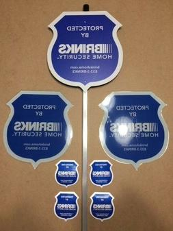 NEW 2019 -The New Brinks Reflective Security Yard Sign w/4 2