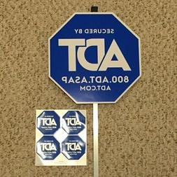 NEW  ADT SECURITY YARD SIGN -- 4 FREE  STICKERS WATERPROOF &