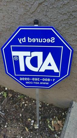 NEW ADT SECURITY YARD SIGN WITH no STICKERS Reflective PVC W