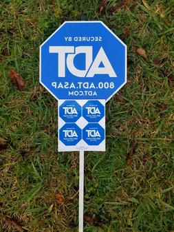 NEW ADT SECURITY YARD SIGN WITH 4 FREE STICKERS WATERPROOF &