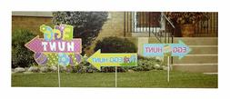 NEW Spring Easter Egg Hunt 3 Piece Yard Sign Set