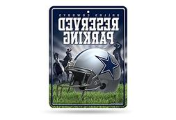 NFL Dallas Cowboys 8-Inch by 11-Inch Metal Parking Sign Déc