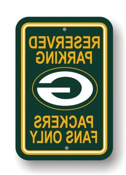 Fremont Die NFL Green Bay Packers Plastic Parking Sign