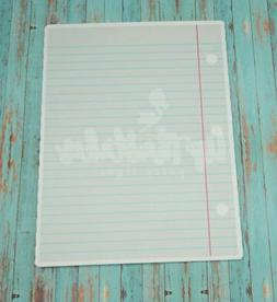 Notebook Paper Yard Sign