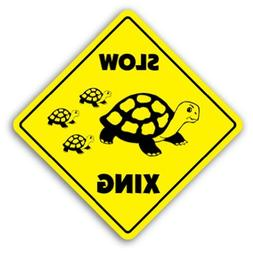 Novelty Sign Gift Slow Turtle Crossing Sign Novelty Lover An