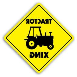 Tractor Crossing Sign New Xing Farmer Case Farmall Metal Sig