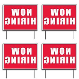 VictoryStore Yard Sign Outdoor Lawn Decorations - Now Hiring