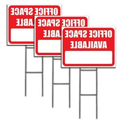 Visibility Signage 18x24 Office Space Available lawn sign wi