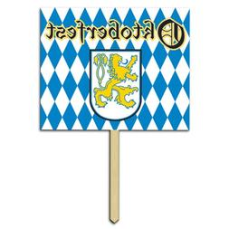 Beistle Oktoberfest Yard Sign 12in. x 15in. Party Accessory