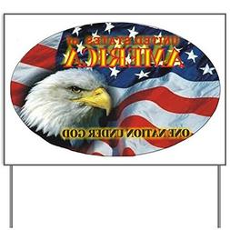 One Nation 2 Yard SignYard Sign, Vinyl Lawn Sign, Political